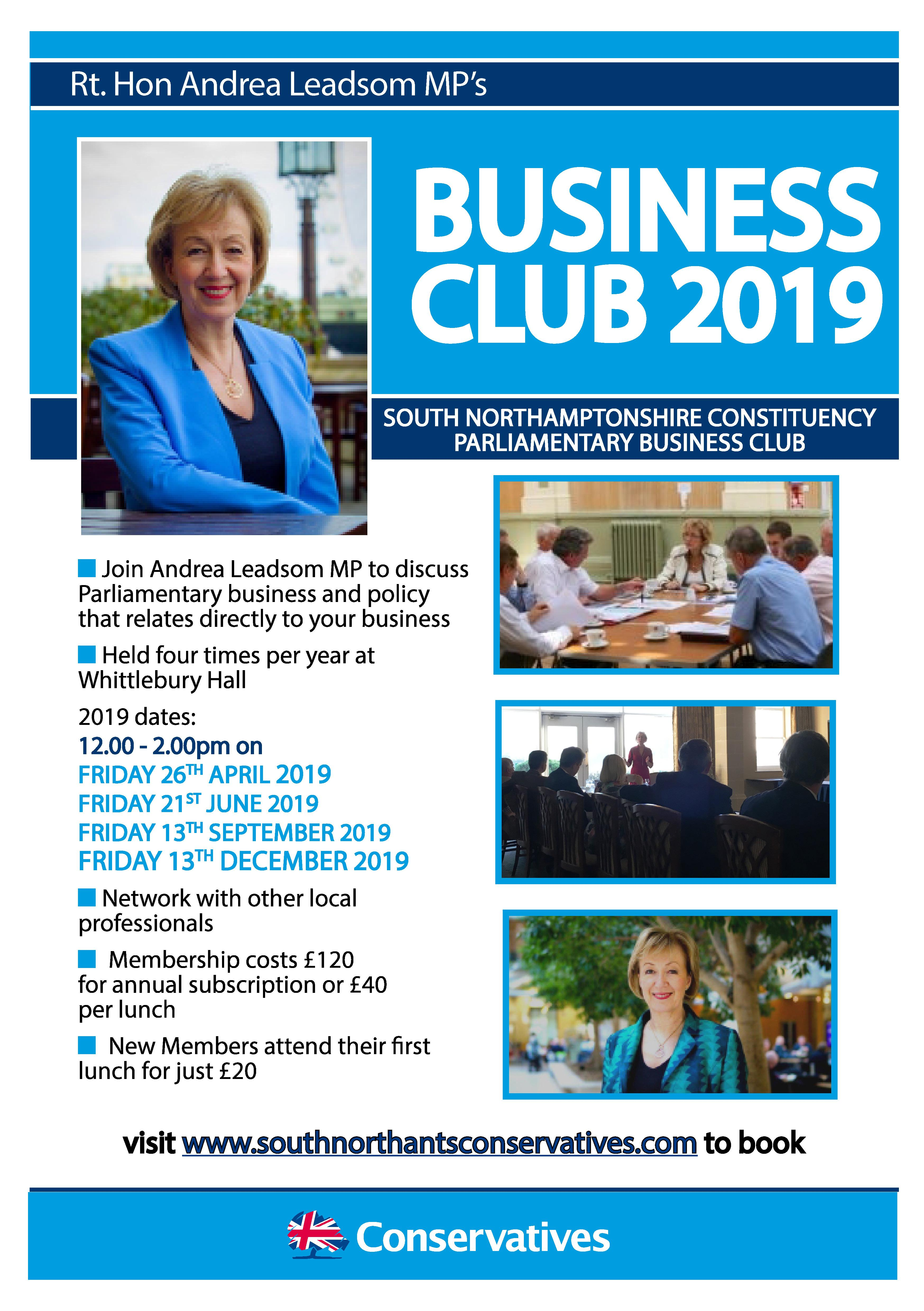 Andrea Leadsom Business Club 2019