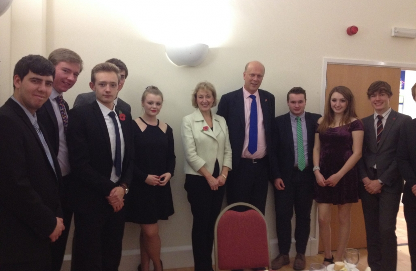 Dinner with Andrea Leadsom